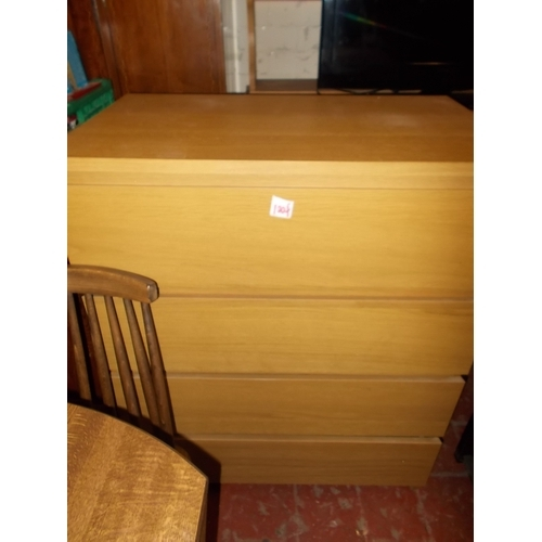 100f - Beech 4 Drawer Chest...