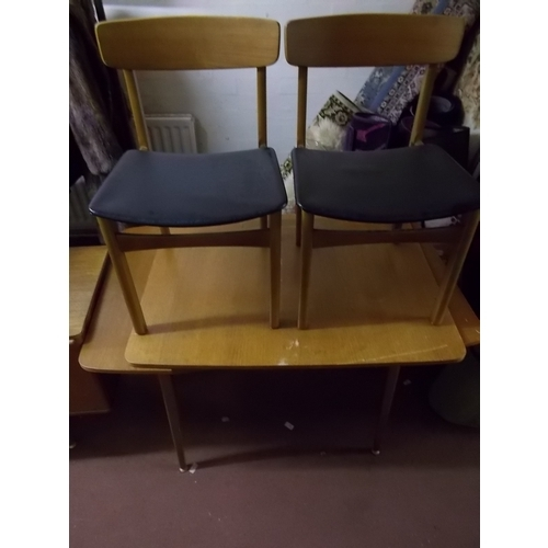 55c - G plan ex table 4 chairs...