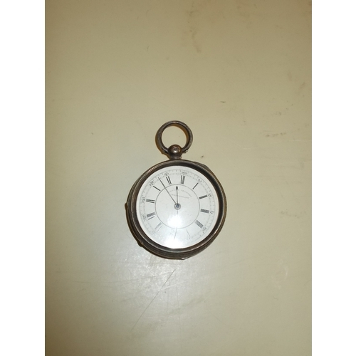 376 - Silver Cased Chronograph Pocket Watch...