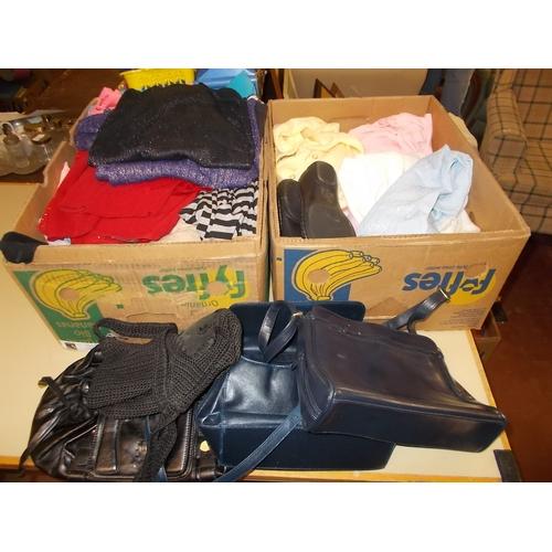 344 - 2 Boxes Ladies Clothes...