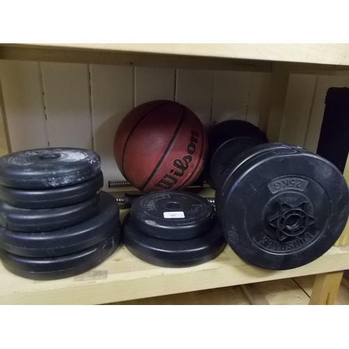 400 - Shelf of Lonsdale Weights...