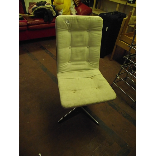 6 - Retro Chrome Base Swivel chair...
