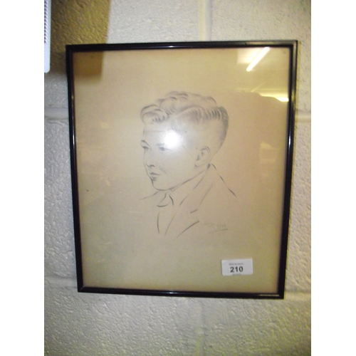 31 - Pencil Sketch Signed Alec 7- 53...