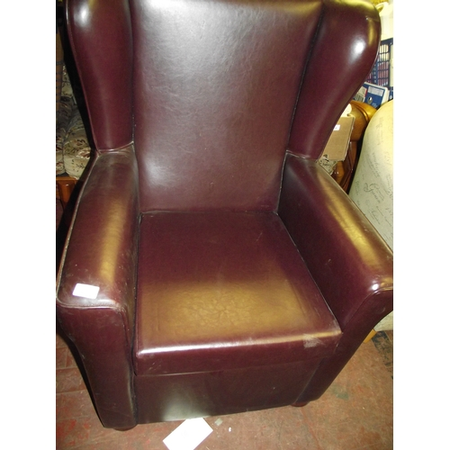 53 - Good Quality Leather Chair by Downs Furniture...