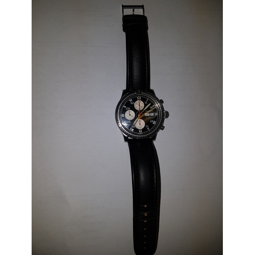 69 - Longines Watch Lindenbergh Chronograph Automatic Wristwatch. Dated 2000 Un worn With Booklet Flight ...