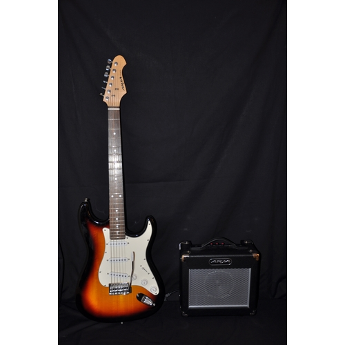 5 - Aria STG Guitar and Amp...