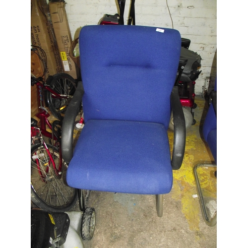 43 - Blue office chair...