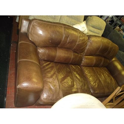 1 - 2 seater leather sofa...