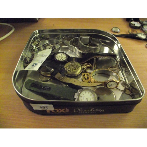 43 - Tray of watches and parts...