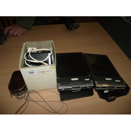 44 - Enlarger light meter and vintage plates...