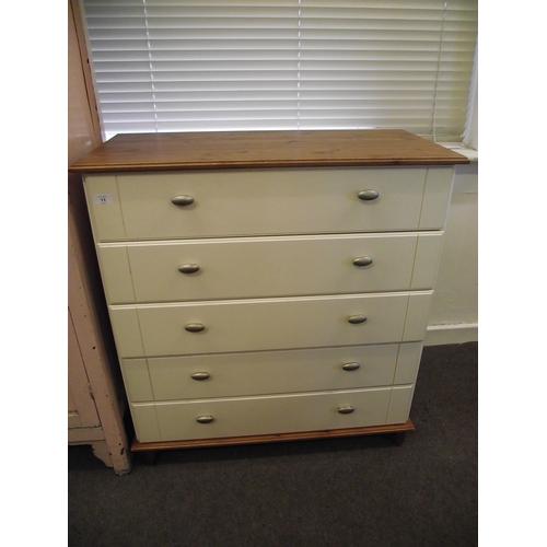 11 - White 5 drawer chest...