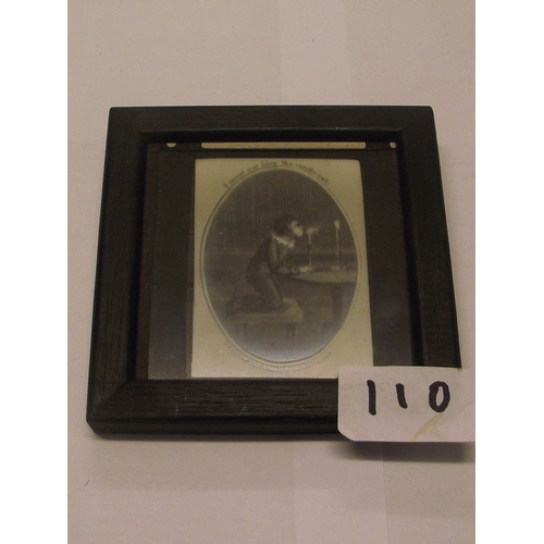 47 - Antique Minature Print- I must not blow the candle out or throw the smutty snuff about...