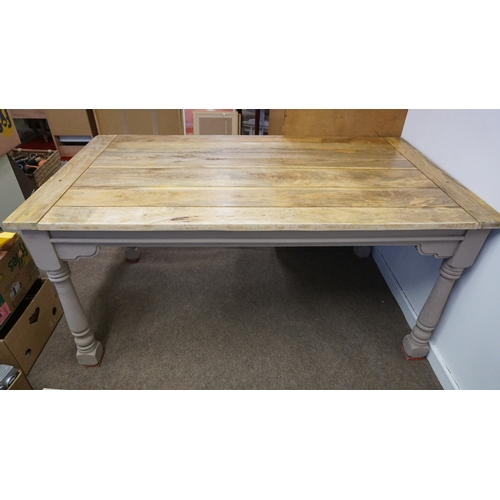 25 - Large kitchen farmhouse table...