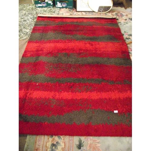 41 - 7 x 5 Red pile rug...