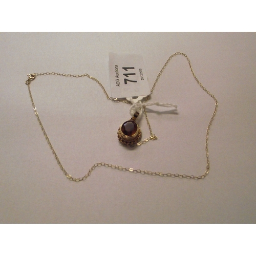 46 - Citrine Pendant and Fine Gold chain...