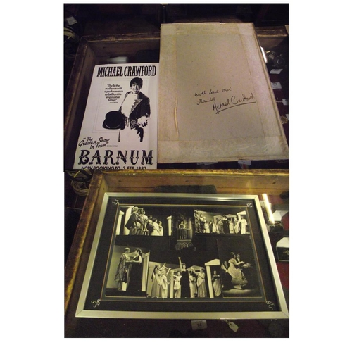 136 - Signed Michael Crawford Montage of Photos and Theatre poster...