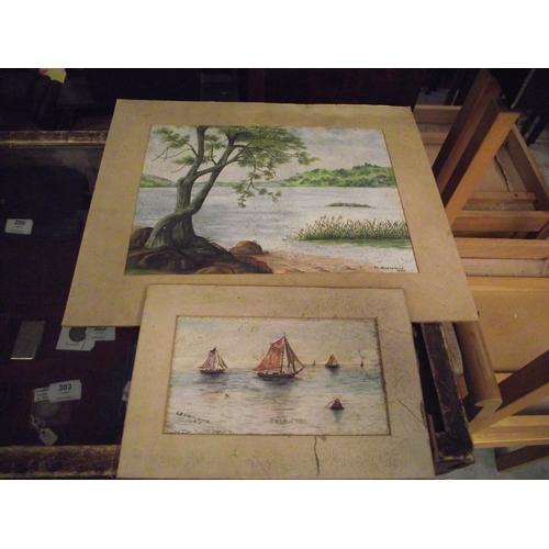 137 - 2 Vintage Watercolours...