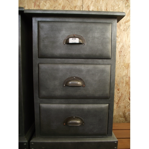 250 - Painted Silver 3 Drawer Chest...