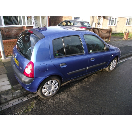 250B - Renault Clio 1.4l petrol April Mot. NU05 YUW 114000K Very good runner.Full details on request.Starts...
