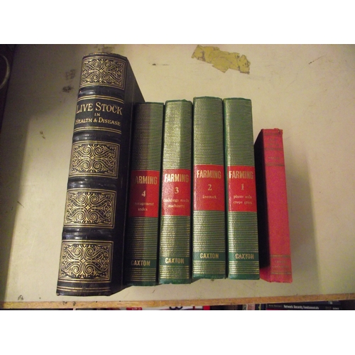 555 - Leather Bound Editions of Livestock and Farming...
