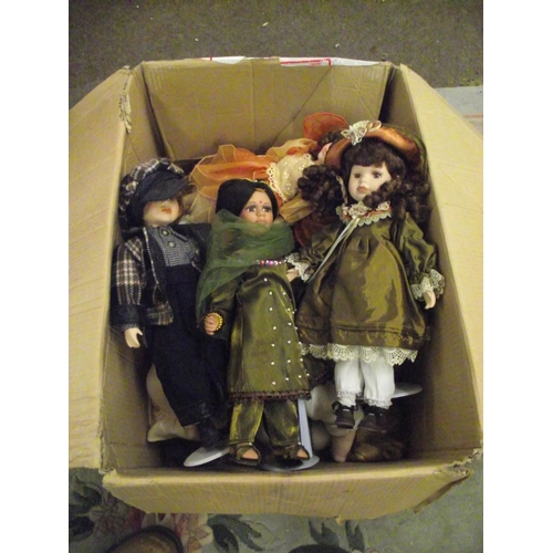 9 - Box of assorted collectors dolls...