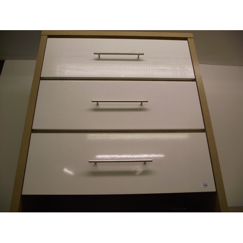 10 - Modern White 3 Drawer Chest...