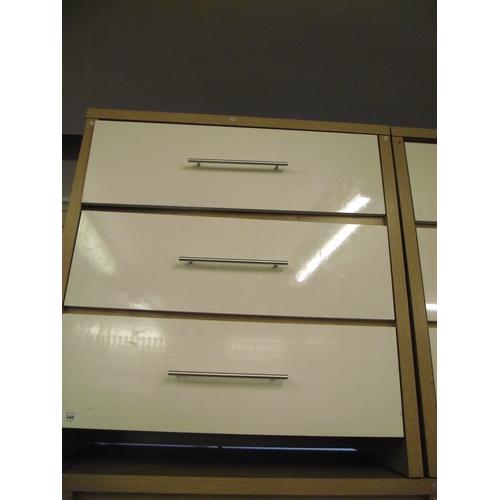 11 - Modern White 3 Drawer chest...
