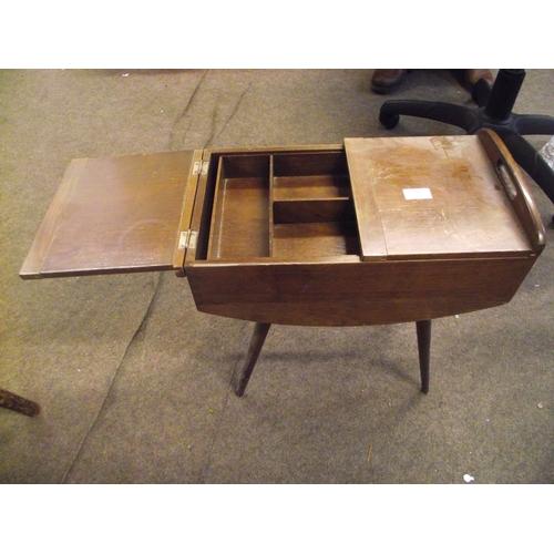 553 - Art deco oak sewing box...