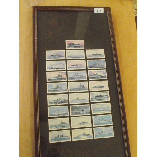 9 - Framed Vintage Cigarette cards Ships...
