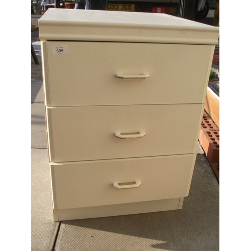 21 - Small White 3 Drawer chest...