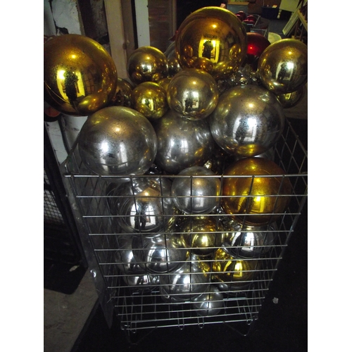 26 - Basket of silver and gold balls. Basket not included...