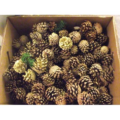 42 - Large bag of pine cones decs...