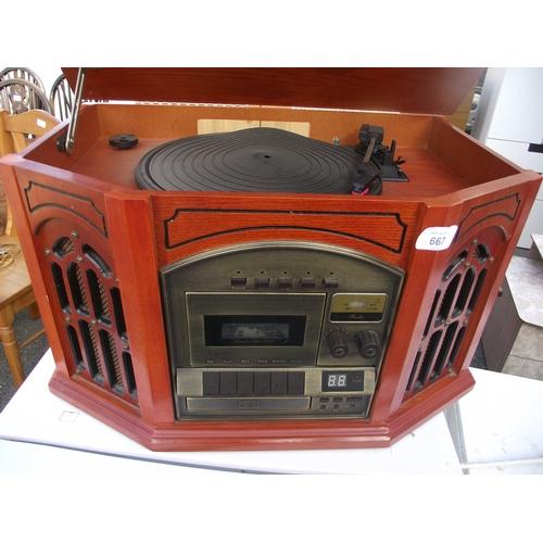 4 - Retro look record player...