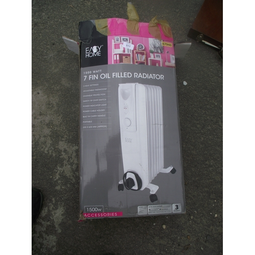 12 - Boxed 7 fin oiled fill radiator...