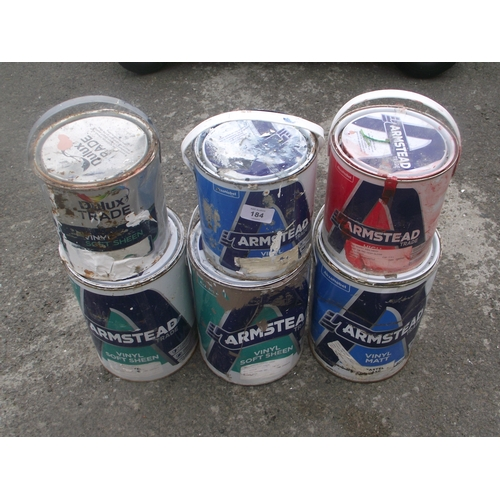 11 - 6 tins of paint...