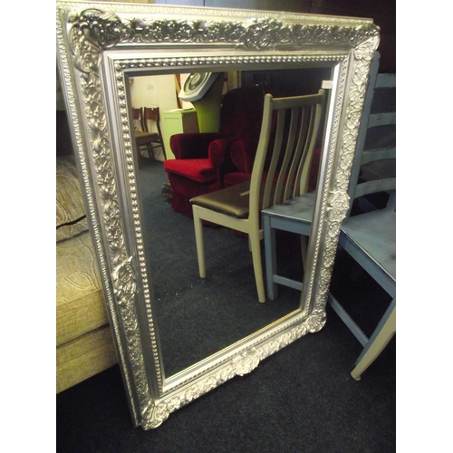 23 - Silver 3ft x 2ft two tone mirror....
