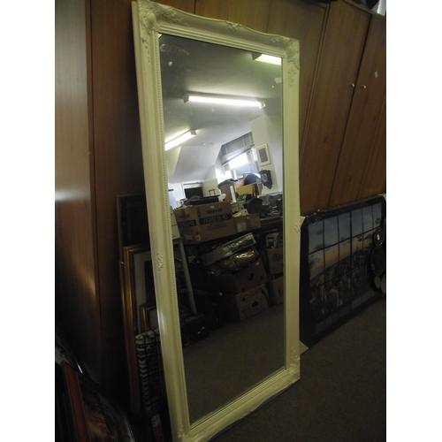 24 - 5ft x 2ft white ornate mirror....