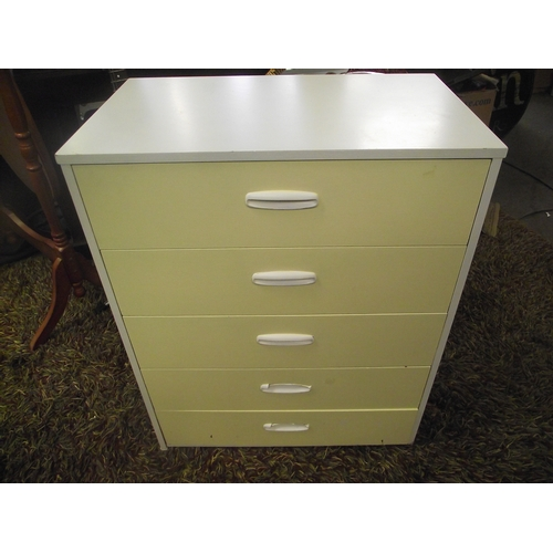 28 - Modern 5 Drawer Chest yellow front....