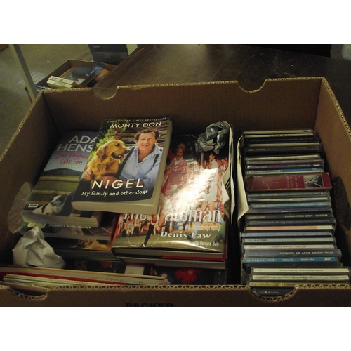 39 - Box of assorted books, CDs and maps etc....