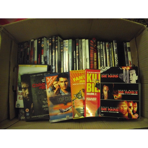 40 - Large box of DVDs...