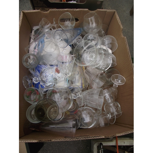 46 - Box of glassware etc....