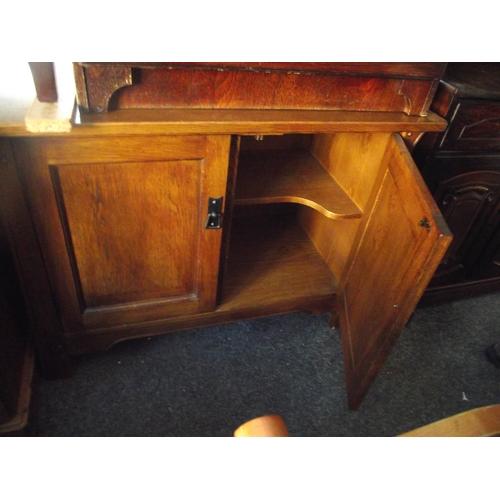 77 - Sherry oak cupboard...