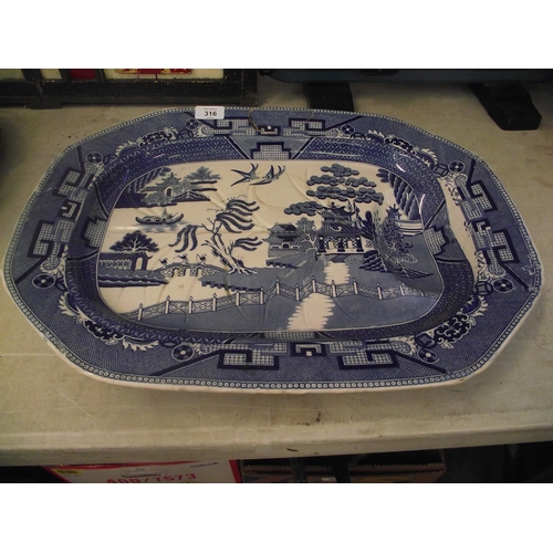 81 - Large meat serving plate....