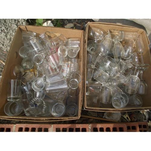 121 - 2 boxes Glassware....