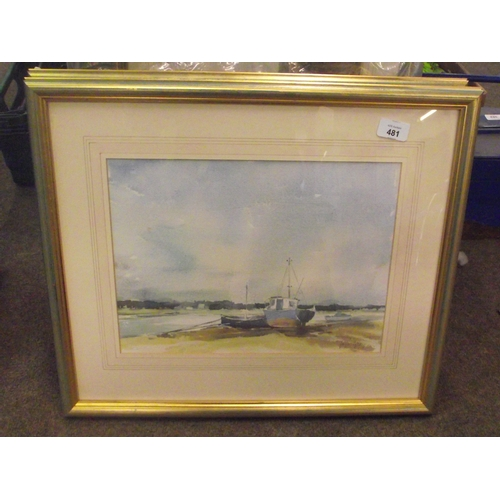 127 - Good Quality Coastal watercolour By Joyce Gray...