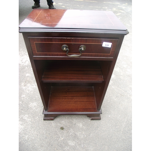 137 - Mahogany single drawer cabinet...