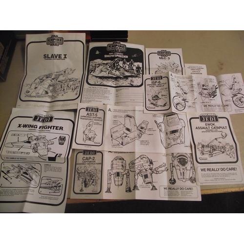 139 - Star Wars: Return of the jedi and Empire strikes back original instruction leaflets...
