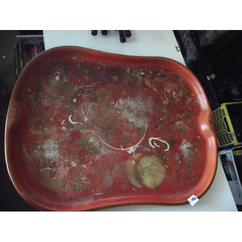 3 - Heavy metal Chinese tray...