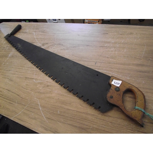 13 - A large tree saw....