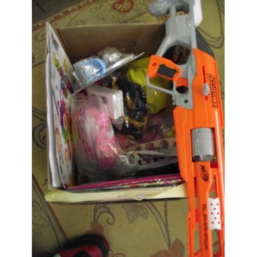 16 - Box assorted Nerf gun and toys etc...